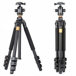 QZSD Q471 Professional Portable Aluminum Tripod With Panoramic Ball head 4 Section Tripode For Canon Nikon Sony DSLR Camera