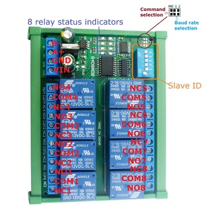 Image 3 - DC 12V 8 Channel RS485 Relay Module Modbus RTU UART Remote Control Switch DIN35 C45 Rail Box for PLC PTZ Camera Security Monito