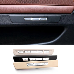 ملصقات قفل مقعد السيارة ل f10 f11 f01 f02 f04 f07 BMW 5 7 سلسلة مقعد الذاكرة فتح ضبط أزرار التبديل غطاء الكسوة