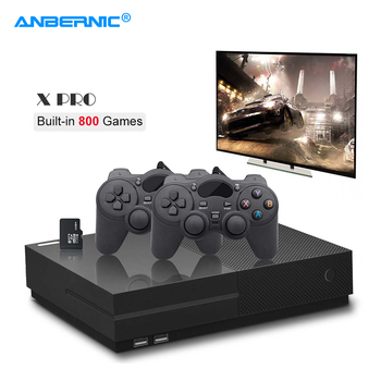 ANBERNIC XPro Video Game Console PS1 HD TV Game 64Bit 800 Classic Family Retro Games X Pro Box PS1 Video Game Player & Gamepad цена 2017