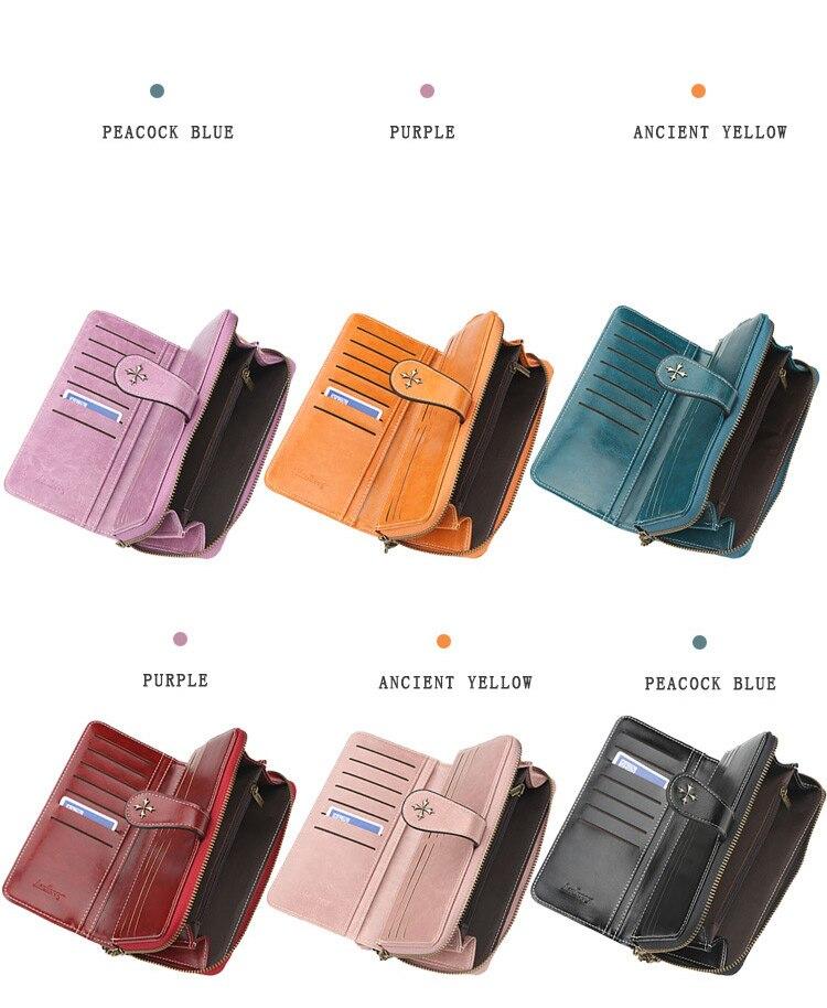 Baellery 2020 mulheres de luxo carteiras couro