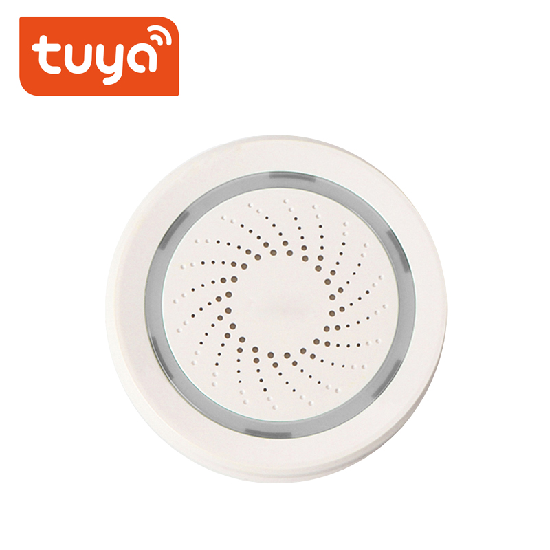 Alarm-Siren-Sensor Tuya Wifi Alexa Sound IFTTT Home-Security-Systems Smart-Life Google