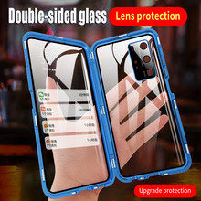 Metal magnetic adsorption, double-sided glass cover, lens drop protection case, Huawei P30, P40Pro, mate30, mate40Pro, Nova7