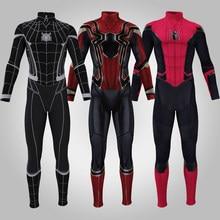 Amazing Spider 3D Milhas Morales Cosplay Zentai Aranha Padrão Impressão Jumpsuits Bodysuit Traje de Halloween para Adultos