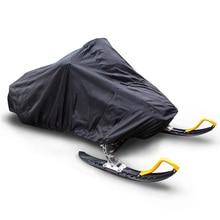 145 дюймов Trailerable водонепроницаемый открытый лыжный снегоход сани крышка полное хранение черный чехол для снегохода 368*130*121 см