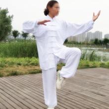 USHINE cotton Tai Chi uniform high quality martial arts Kung Fu suit Wushu tai chi clothing large size top pants for adults high quality kung fu clothing tai chi suit embroidery dragon martial arts wushu changquan performance uniform for adult children