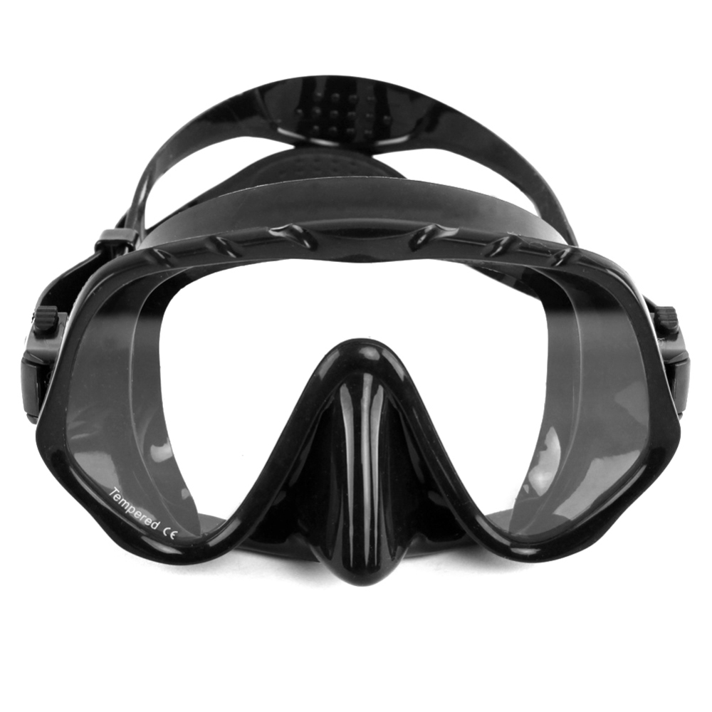 Silicone Swimming Goggles Underwater Anti Fog Half Face Nose Clip Glasses Diving Bikini Mask Tempered Glass Lens Snorkel Goggles