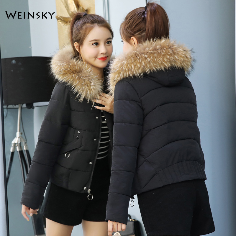 2019 New Fashion Women Winter Hooded Coat Warm Jacket Down Cotton Padded Jacket Outwear   Parkas