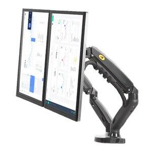 "Image 1 - 2019 New NB F160 Gas Spring 360 Degree Desktop 17"" 27"" Dual Monitor Holder Arm Full Motion Monitor Mount Bracket Load 2 9kg each"