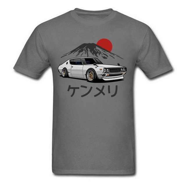 여름 남성 스포츠 편안한 탑 청소년 소년 힙합 t 셔츠 일본 자동차 팬 남자 티셔츠 닛산 스카이 라인 GTR 34 Haruna Tshirt