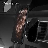 Smart Wireless Auto Telefon Halter Ladegerät Sensing Automatische Air Outlet Halterung Splitter Schwarz Goldene Farbe Micro USB 10W QI lade