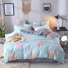 cute cartoon 3/4pcs Bedding Set Twin Queen King Size Teens Girls Boys Kids Bed Linen set duvet cover flat Sheet Pillowcase