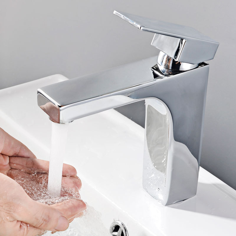 Manufacturers Hot Sales Copper Hot And Cold Basin Faucet Bathroom Toilet Square Table Basin Tap Household MT1005