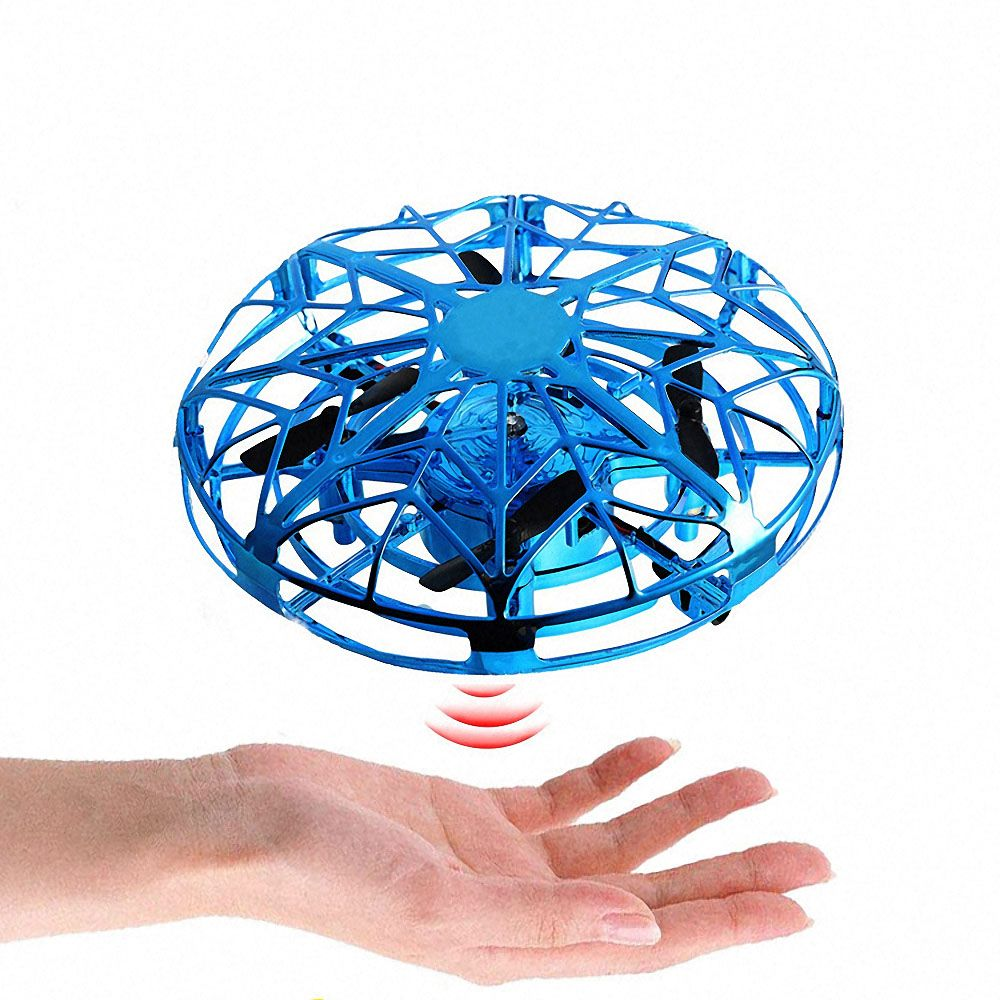 Antistress Flying UFO RC Micro Drone Infraed Hand Sensing Helicopter Anti-collision Aircraft Electronic Toys For Children Kids