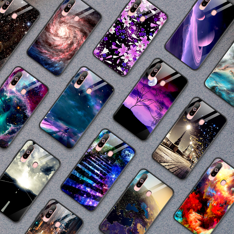 Phone <font><b>Case</b></font> for <font><b>Samsung</b></font> <font><b>Galaxy</b></font> <font><b>A10</b></font> A20 A30 A40 A50 A6S A70 A8S A80 A90 Tempered Glass Cover J4Plus M10 M20 M30 Note9 Hard Shell image