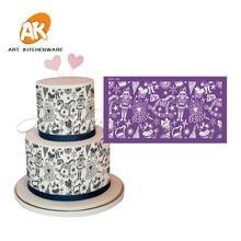 Волшебное детство дневной торт трафарет свадебное украшение