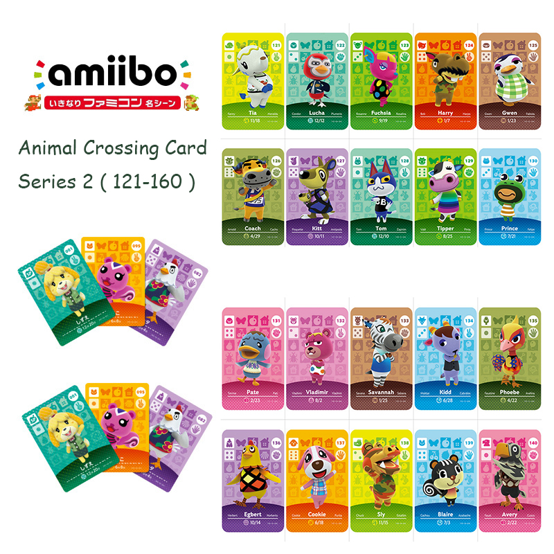 Animal Crossing Card Series 2 (121-160) Amiibo Card Work For Switch 3DS NS Games New Horizons Amiibo Animal Crossing Card Serie2