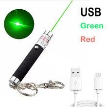 Alta potência usb verde ponteiro laser vermelho 711 5mw 532nm linha contínua laser faixa verde caça lazer caneta