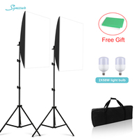 Soft Box 58W Led Lighting Photography Accessoire Photo 50x70cm Softbox With 2M Stand For VK Youtube Live Video Light Studio Kit