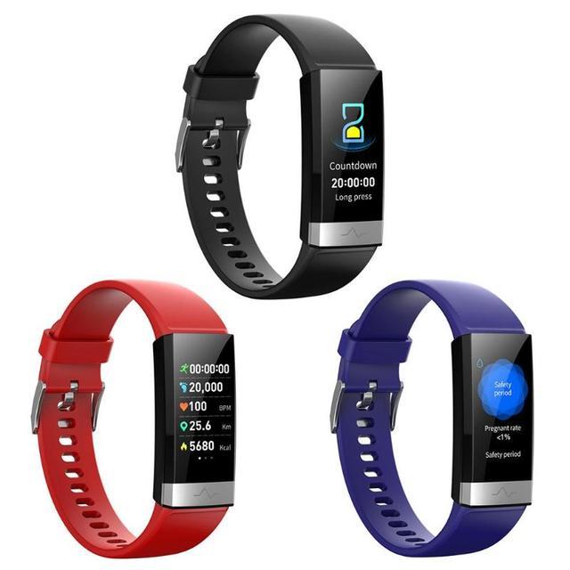 V19 akıllı bilezik ekg + PPG + HRV kalp hızı kan basıncı monitörü uyku spor izci akıllı bileklik Android için destek iOS