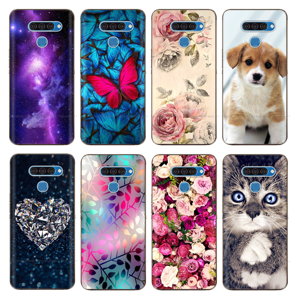 Capa for <font><b>LG</b></font> <font><b>V50</b></font> Cover Silicon Cartoon Printing Soft TPU Coque for <font><b>LG</b></font> K50 Q60 Q70 Phone Case Funda for <font><b>LG</b></font> <font><b>V50</b></font> <font><b>Thinq</b></font> Case Shell image