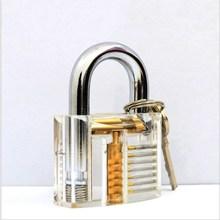 Transparent Padlock Transparent Practice Lock Exercise Lock Transparent Lock Civil Lock цена