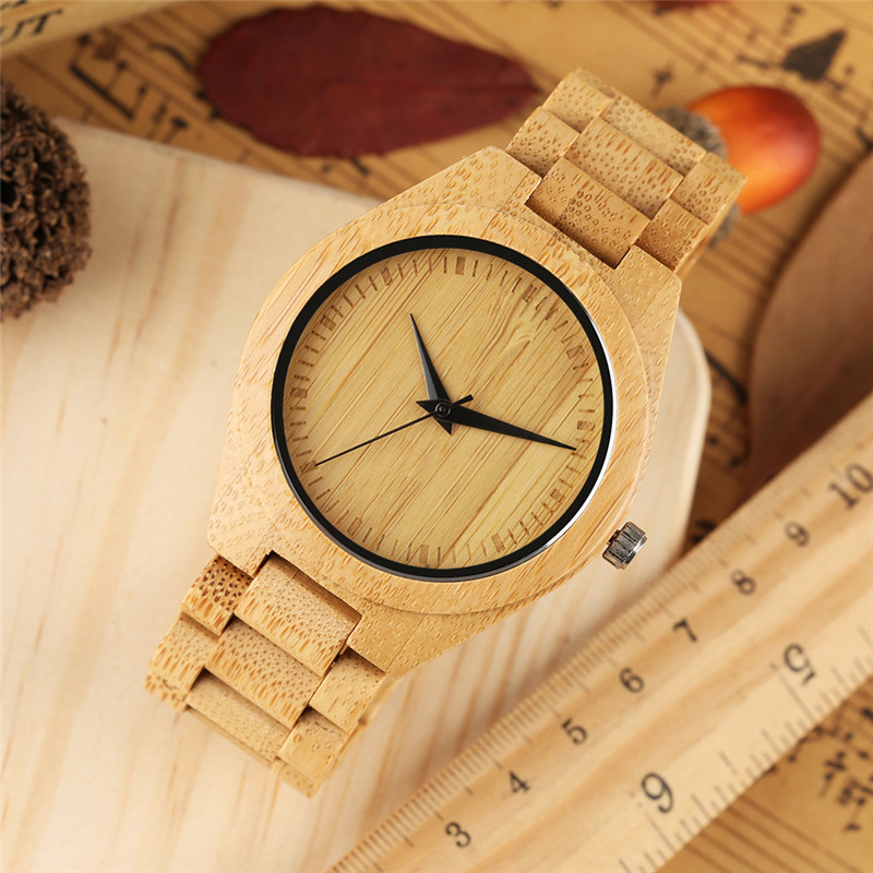 Nature Wood Bamboo Watch Men Kono Taro Wristwatch Japanese Quartz Movement Lover's Watches relogio masculino Creative Gift Clock