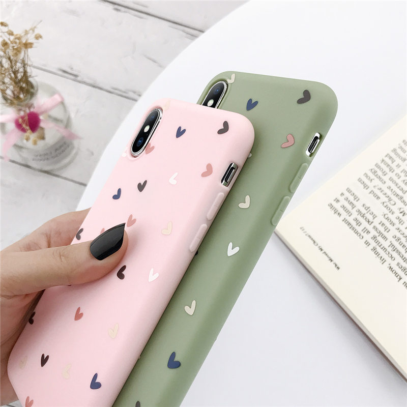 Love Heart Silicone Phone Back Shell For iPhone 11 Pro X XR XS Max 7 8 6 6s Plus 5 5s SE 3
