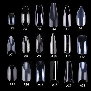 Makartt 500pcs Coffin Fake Nail Tips Clear Natural Nails Tips Full Cover False Acrylic Nails Ballerina Nails Press on Nails фото