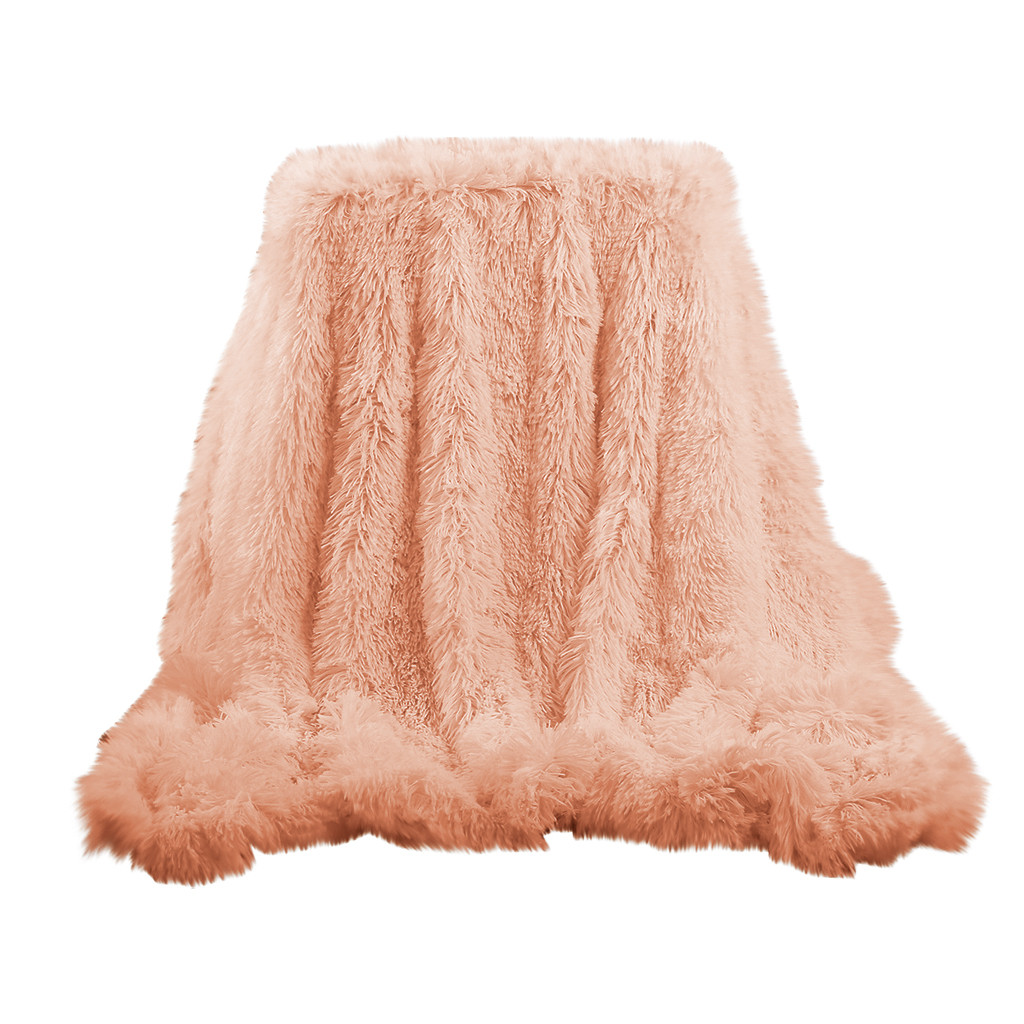 2020 Super Soft Long Shaggy Fuzzy Fur Faux Fur Warm Elegant Cozy With Fluffy Sherpa Throw Blanket Bed Sofa Blanket Gift Soft