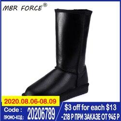 MBR FORCE/классические женские водонепроницаемые сапоги до колена из овечьей кожи; Зимние сапоги с меховой подкладкой; Теплая обувь