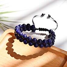 Đá Lapis Lazuli Vòng Tay Homme Handmade Cổ Điển Nam Turquoises Cầu Nguyện Dệt Kiểu Lắc Tay Có Thể Điều Chỉnh Thiền Trang Sức