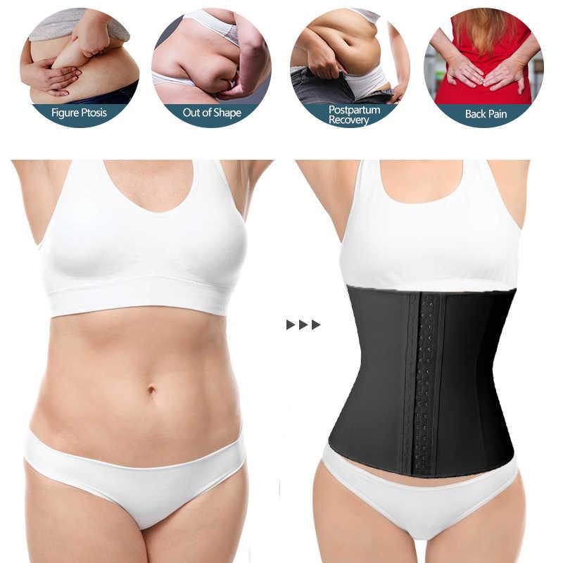 Cintura de látex trainer suor trimmer cinto de treino underbust espartilho perda de peso cincher corpo shaper modelagem cinta shapewear