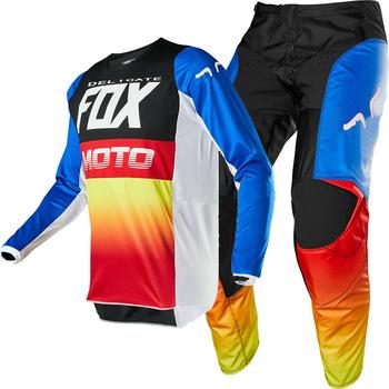 NAUGHTY FOX zestaw motocyklowy wyścigi 180 Fyce MX Offroad Motocross rower zjazdowy motocykl zestaw narzędzi motocykl pełny kostium tanie i dobre opinie Unisex MOTO MX FOX180 100 poliester
