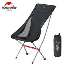 цена на Naturehike Folding Picnic Chair Outdoor Portable Lightweight Camping Chair Backpack Fishing Chair Foldable High Beach Chair YL06