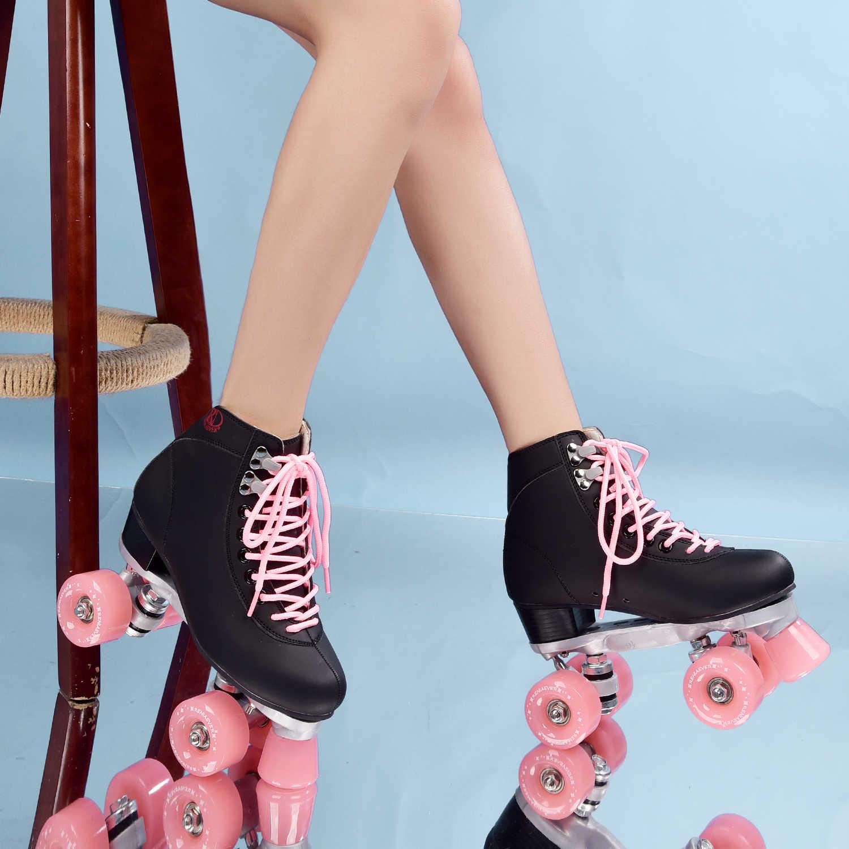 Rulo Tekerlekli Paten Quad 4 Tekerlekler Skate Ayakkabı Paten Ayakkabıları Aliexpress
