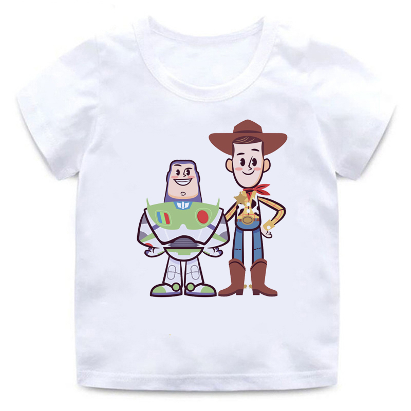 T-Shirt Boys Toy-Story Funny Girls Lightyear/woody Children's Summer 4-Cartoon New Kids title=