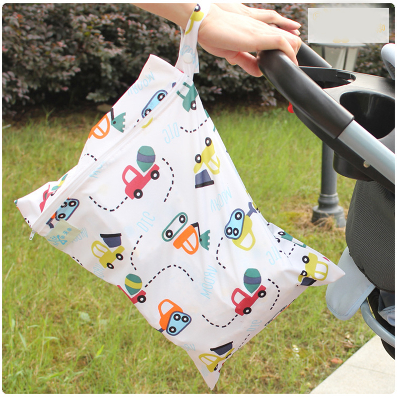 Baby Articles Monolayer Zipper Baby Garden Cart Waterproof Hanging Bag Baby Urine Separation Piece Package Go Out Accept Pouch