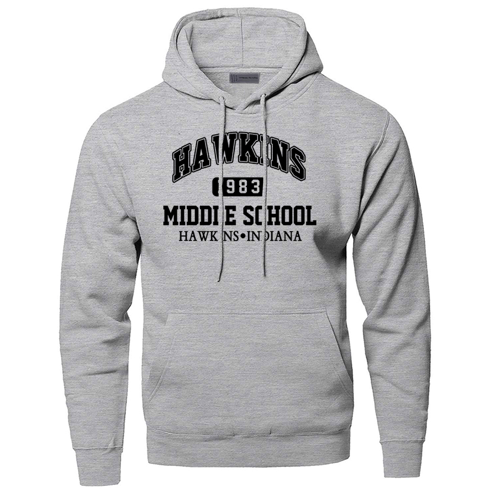 Stranger Things Hoodeis Sweatshirts Men HAWKINS 1983 Middle School Indiana Hooded Sweatshirt Hoodie Winter Autumn Sportswear
