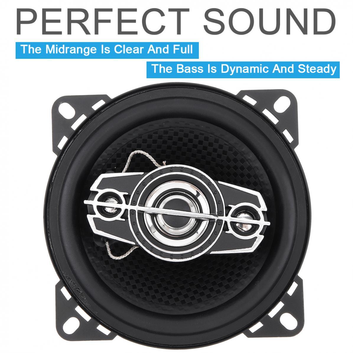 2pcs 4 Inch 10cm 250W Car Coaxial Speakers Auto Audio Music Stereo Full Range Frequency Hifi Non-destructive Installation
