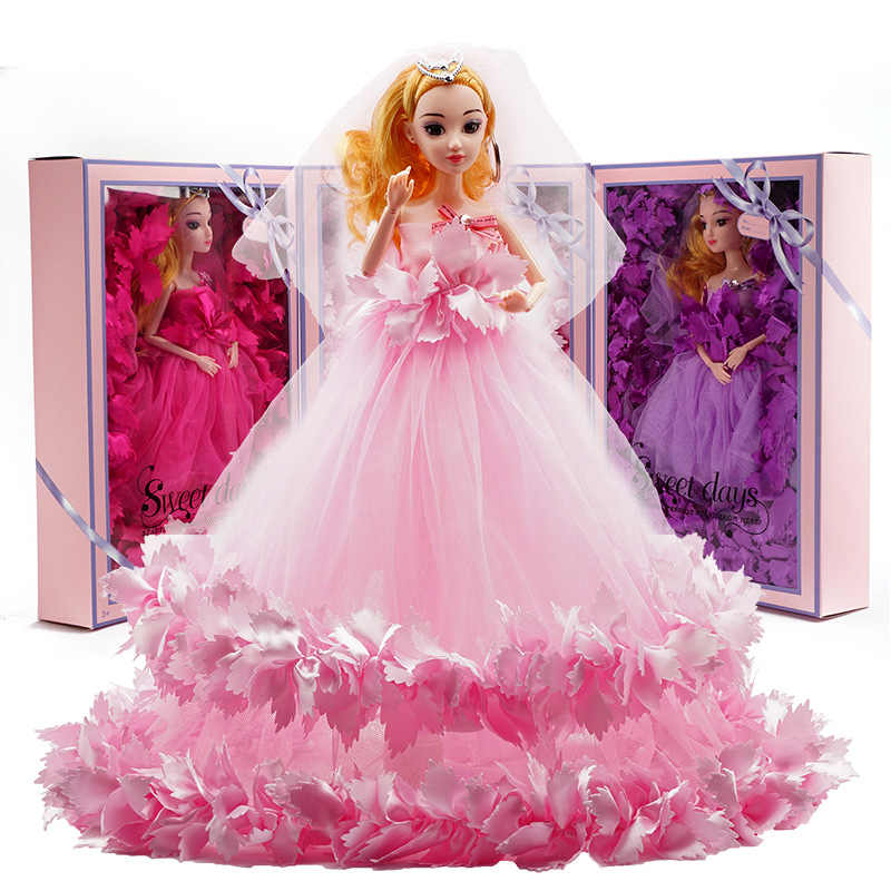 Kids Princess Wedding Dress Noble Party Gown For Girl S Doll Fashion Design Outfit Best Toys Birthday Gifts For Children Girls Aliexpress