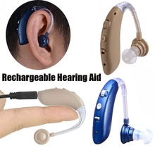 Recarregável bluetooth usb mini digital bte aparelho auditivo amplificador de som para suave a grave perda de audição transporte da gota