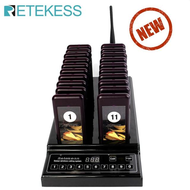 Retekess T112 Pager Restaurant With 20 Pager Receivers Max 999 Beepers For Restaurant Hospital Church Wireless Calling System