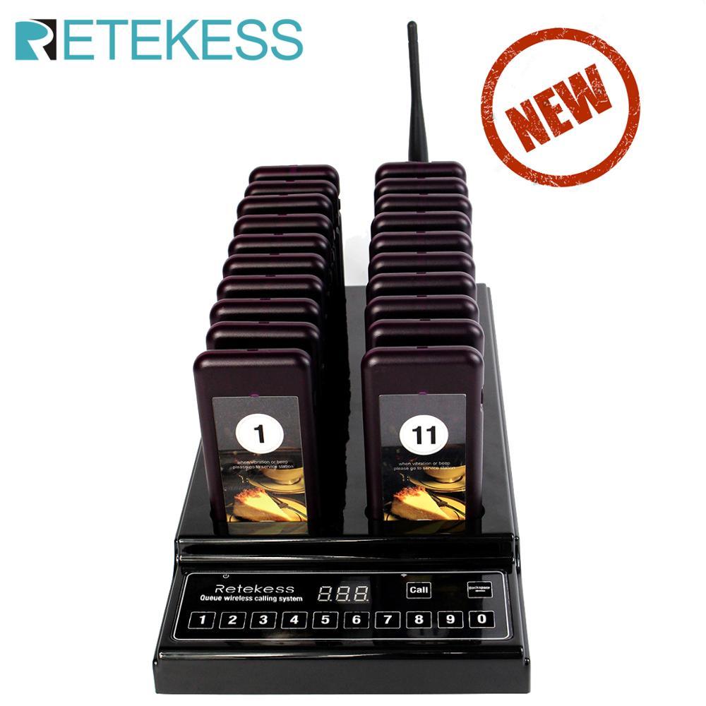 Retekess-sistema de paginación para restaurante T112, inalámbrico, sistema de colas, 999 canales, 1KM, resistente al agua, para restaurante, buscapersonas