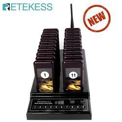 Retekess t112 restaurante sem fio sistema de paginação fila 999-canal 1 km à prova dwaterproof água restaurante pager garçom chamando pager