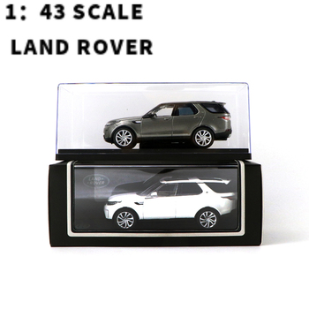 1:43 SCALE   LAND  ROVER DISCOVERY  5 SILVER /WHITE MODEL  MINIATURES NEW 1