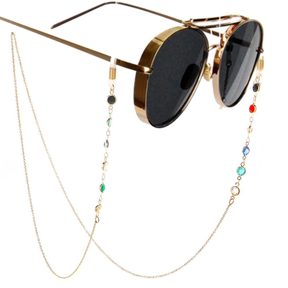 1PC 2019 Fashion Chic Womens Gold Silver Sunglasses Chains Reading Beaded Glasses Chain Eyewear Cord Lanyard Necklace