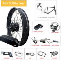eBIKE Conversion Kit 20inch/26inch 4.0 fat Motor Wheel Electric Bicycle Conversion Kit 48V 1000W  Rear Hub Motor Wheel bicicleta