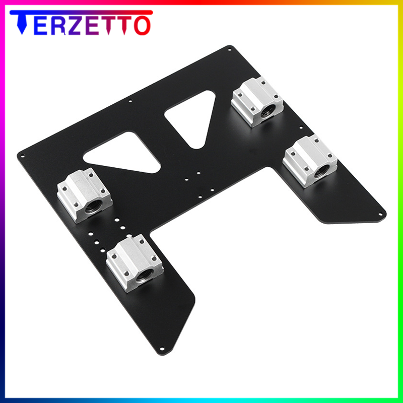 Prusa i3 Anet A8 A6 Z axis hot bed support plate with <font><b>4pcs</b></font> <font><b>sc8uu</b></font> sliders kit for Prusa I3 Anet A8 3D Printer parts image