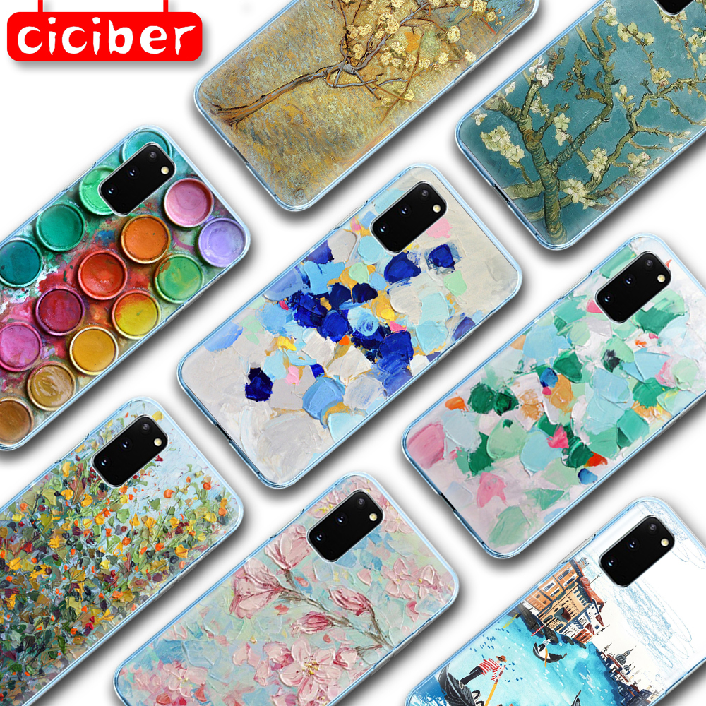 Art Painting Soft TPU Phone Case For Samsung Galaxy S10 S9 S8 S20 Plus Ultra S10e A50 A51 A71 A70 A20E A10 A40 NOTE 10 9 8 Plus